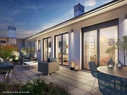 Beeindruckendes 4-Zi. Penthouse mit über 85 m² Dachterrasse / Dachgarten in Sendling