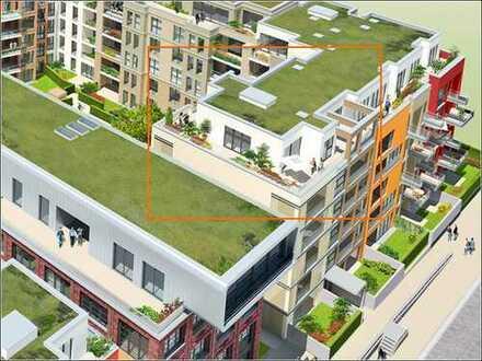 """""""Ile"""" in Düsseldorf-Pempelfort - Exclusives 3-Raum-Penthouse mit Parkett und 86 m² Dachterrasse."""