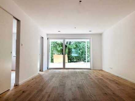 Wohnkonzept 50+ barrierefreie 2-Zi.-Wohnung mit EBK, Terrasse u. Gartenanteil in Ergolding