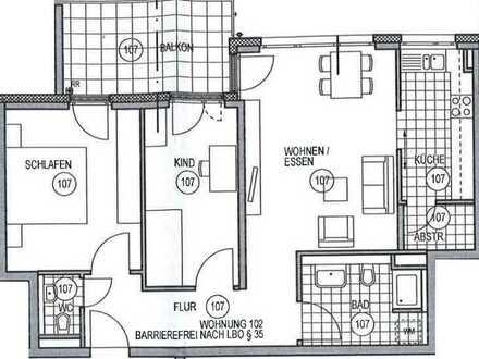 Helle 3-Zimmer-Wohnung in Rottweil
