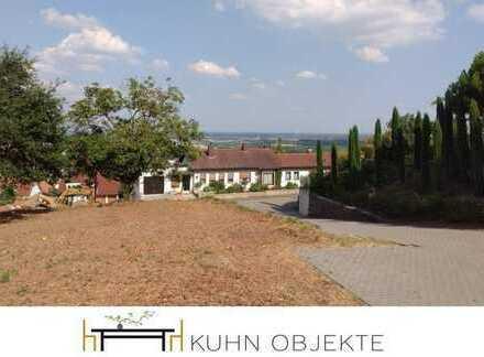 Exponiertes Südgrundstück mit unverbaubarem Blick auf die Rheinebene
