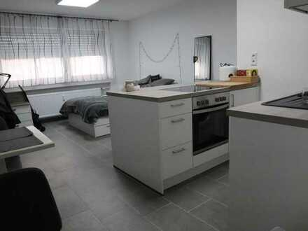 Möblierte renovierte 1-Raum-Wohnung mit Einbauküche in Worms