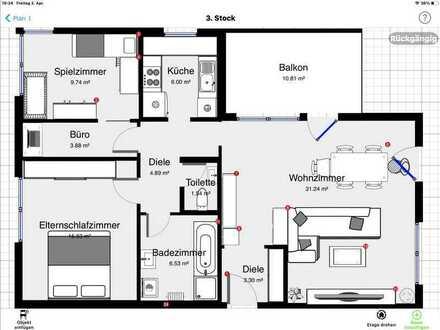 Geschmackvolle Wohnung mit vier Zimmern, Balkon , EBK in Inzlingen