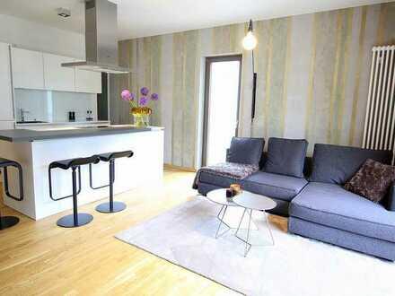 Stilvoll design-möbliertes Wohnen mit zwei Terrassen und vielen Extras!