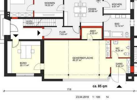 85 m2 Gewerbefläche in Halverde (ergänzend ca. 50 m2 Nutzfläche verfügbar)