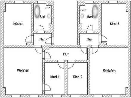 Auf Anfrage: Umbau zur 4-Raum-Wohnung möglich !