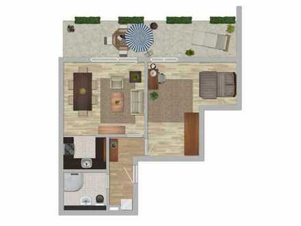 top renovierte 2 Raum Wohnung mit Dusche