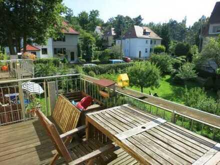sonnige 4-Zimmer-Maisonette-Wohnung in Oberloschwitz zu verkaufen