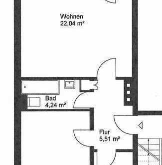 Gepflegte Wohnung mit zwei Zimmern und Balkon in Krefeld