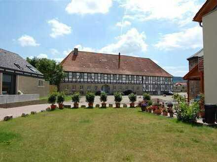 Bruchstein und eigener Garten. Wunderschöne Wohnung im Gutshaus