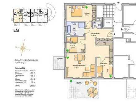 Hochzoll Neubau 4 ZKB Erdgeschosswohnung in TOP Lage incl. Küche