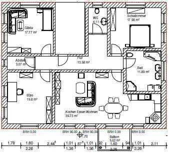 Erstbezug mit Balkon: attraktive 3,5-Zimmer-Wohnung in Weidenbach