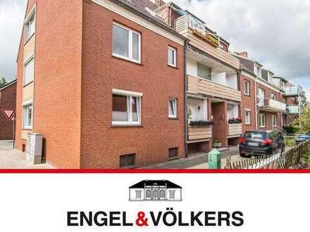 Groß-Faldern: 3 Zimmer Wohnung mit Balkon direkt am Emder Wall