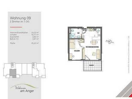 Single oder Pendler: 2 Zimmer im 1. OG mit Westbalkon