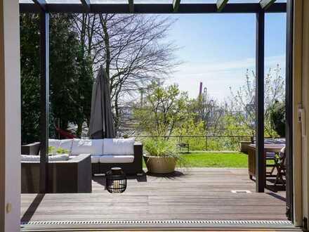 Wunderschöne Gartenwohnung mit Hauscharakter – in Bestlage der Elbchaussee! Privatsphäre & Elbblick