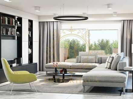 Exklusive Terrassenwohnung mit Gartenanteil und Weitblick!