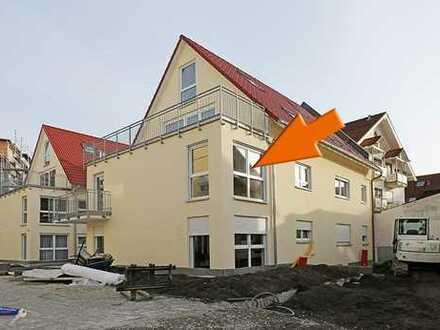 Neubau-Mietwohnung im 1.OG mit Balkon und Einbauküche