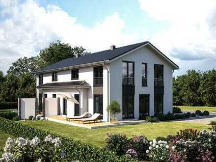 Wunderschöne Doppelhaushälfte 141 m² KfW 40 unverbaubarer Lage Nähe Erding