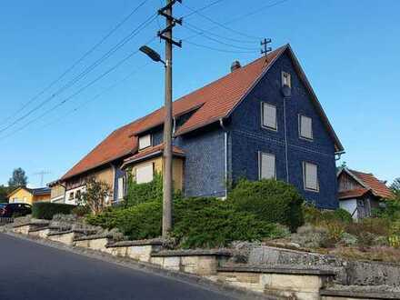 RESERVIERT! NATUROASE & FAMILIENDOMIZIL! gr.Haus+Scheune am Ortsrandidylle in Bischofrod