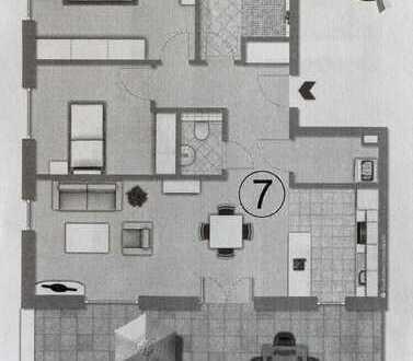 Erstbezug: 3-Zimmer Wohnung mit großer Terrasse, EBK & Stellplatz (Staffelgeschoss)
