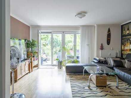 Reihenhausstil: Maisonette-Whg. mit Garten, Balkon, EG+OG+UG im schönen Allach
