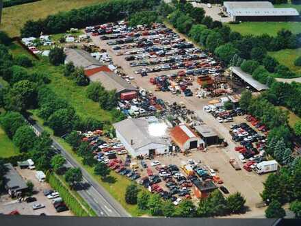Autoverwerter, KFZ Recycling, Entsorgung, 25000qm Grund mit Wohnhaus u.Schwimmhalle