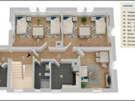 2 moderne 3-Zi.-Arbeiterwohnungen in Achern - möbliert, saniert, zentral