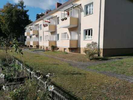 Wohnung mit drei Zimmern, Balkon, Garage und Garten in Eberswalde