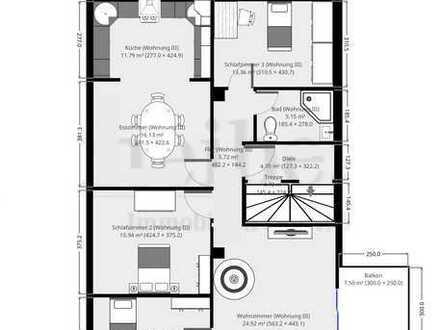 DG im 1.OG, große Terrasse, kaum Schrägen 800,- Euro/ m² Modernisierungskostenanteil beachten !