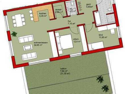 3,5 Zi.- Wohnung mit großem Balkon und TG-Stellplatz
