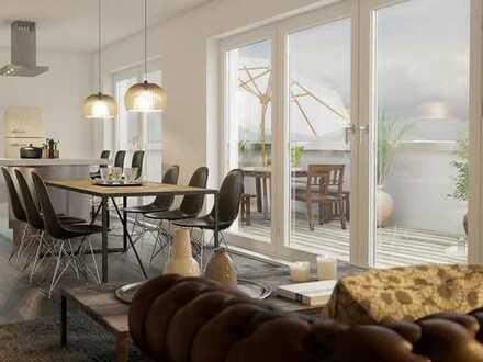 Exklusive 3-Zimmer-Penthouse auf 99 m² mit umlaufender Dachterrasse nahe Innenstadt