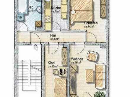 Ruhige 3-Zimmerwhg. mit Balkon in ländlicher Gegend