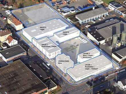 Vermietung von Büro-Lager-und Produktionsflächen in einem Gewerbe-Areal in 1A-Lage