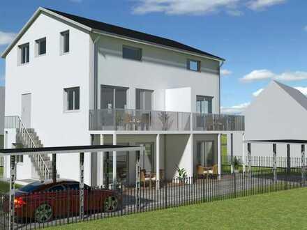 Attraktive 4-Zimmer-Maisonette-Wohnung, Effizienzhaus 40, Holzständerbauweise, Erstbezug Ende 2021