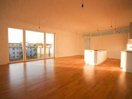 NEUBAU • 4-Zimmerwhg. mit 48 m² Wohnküche • Fußbodenheizung • direkt am Volkspark mit EBK und Balkon