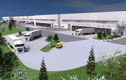 Neubau Logistikimmobilie. Hallenflächen zwischen 2.300 m² und 40.000 m² verfügbar - provisionsfrei