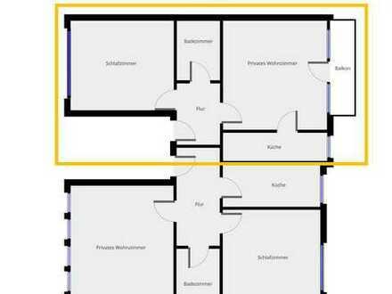 Schöne 2 Zimmer Wohnung in goldener Lage mit Balkon