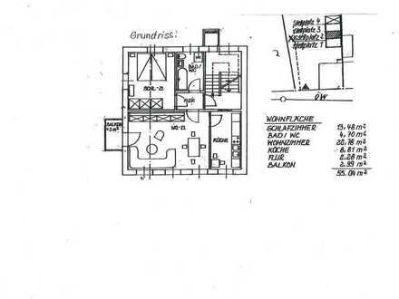 Schöne 2-Raum Wohnung mit Balkon und Stellplatz
