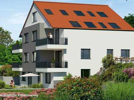 Neubau in Weinstadt-Strümpfelbach 4,5 Zimmer Maisonette mit Garten (SNR)