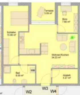 Erstbezug: attraktive ruhige 3-Zimmer-Neubauwohnung mit Balkon