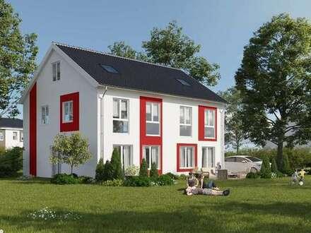 Schlüsselfertiges Haus inklusive Grundstück, Terrasse und einem PKW-Stellplatz