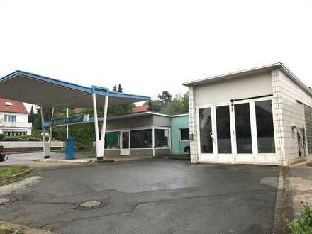 Grundstück mit ehem. Tankstelle, Werkstatt und Garagenhof, nahe der B1