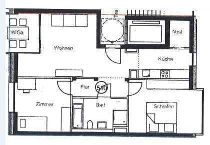 MME-Schein notwendig! Schöne 3-Zimmer-Neubau-Wohnung in Stuttgart, West