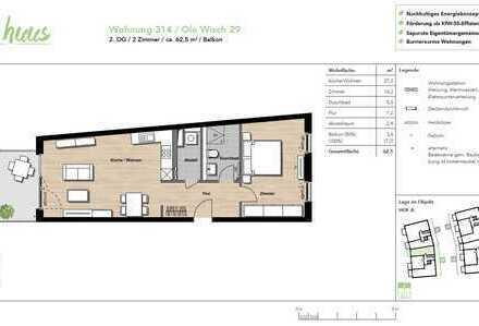 Erstbezug: stilvolle 2-Zimmer-Wohnung mit Einbauküche und Balkon in Buchholz i.d.N