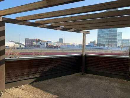 City-Appartement mit Blick über die Stadt