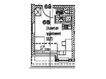 Vermietetes 1-Zimmer-Appartement im DG einer Studentenwohnanlage als Kapitalan zu verkaufen