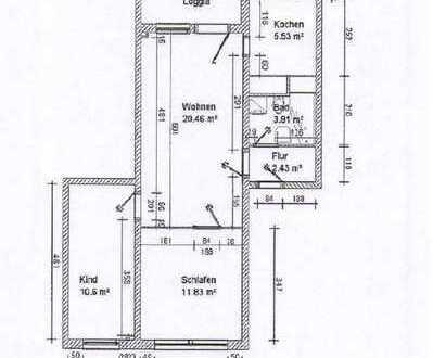 *** 3-Raum-Wohnung mit Balkon***