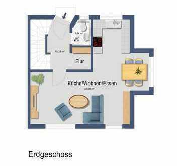 Helle Doppelhaushälfte mit 4,5 Zimmern in München-Waldperlach