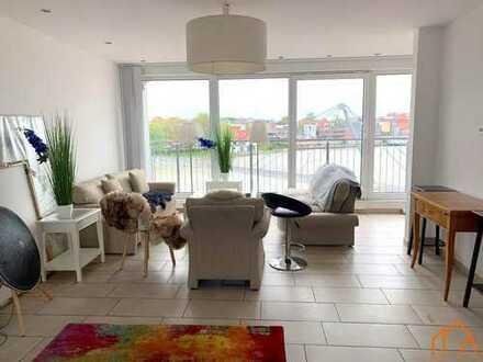 Hochwertige Wohnung auf drei Ebenen mit Blick auf den Leeraner Hafen!