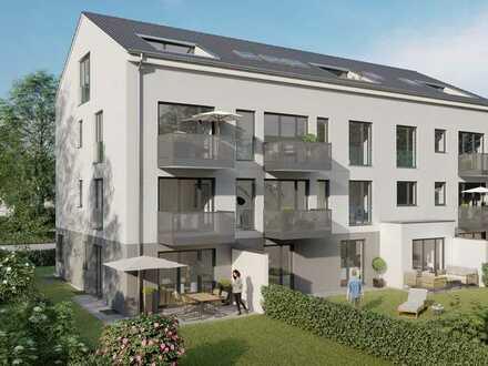Elegante und ruhige 3-Zi.-Gartenwohnung mit ausgebautem Hobbyraum, Terrasse